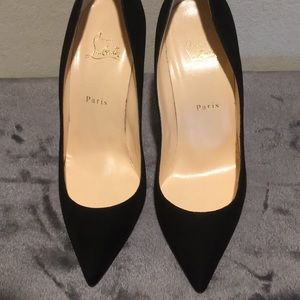 Christian Louboutin's size 40.5 black suede